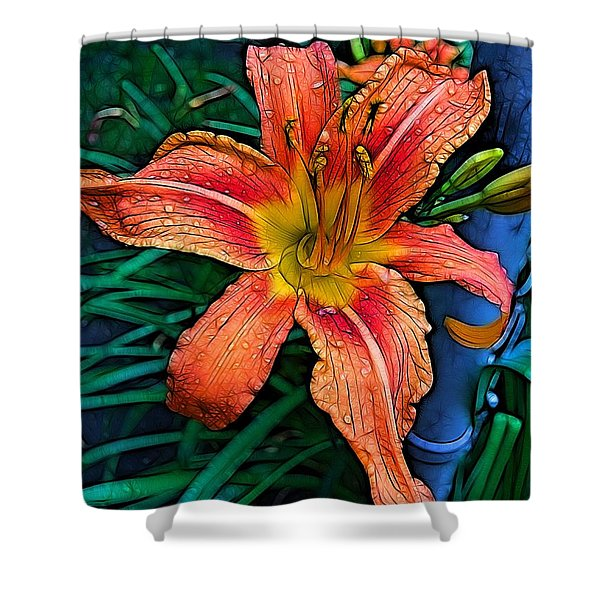 Lily Bold Shower Curtain
