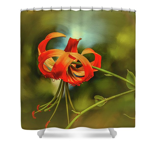 Lily #h8 Shower Curtain