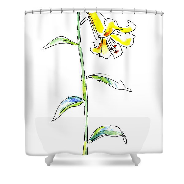 Lily Watercolor Painting 2 Shower Curtain