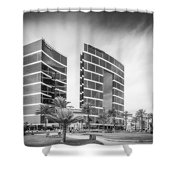 Lima Buildings Shower Curtain