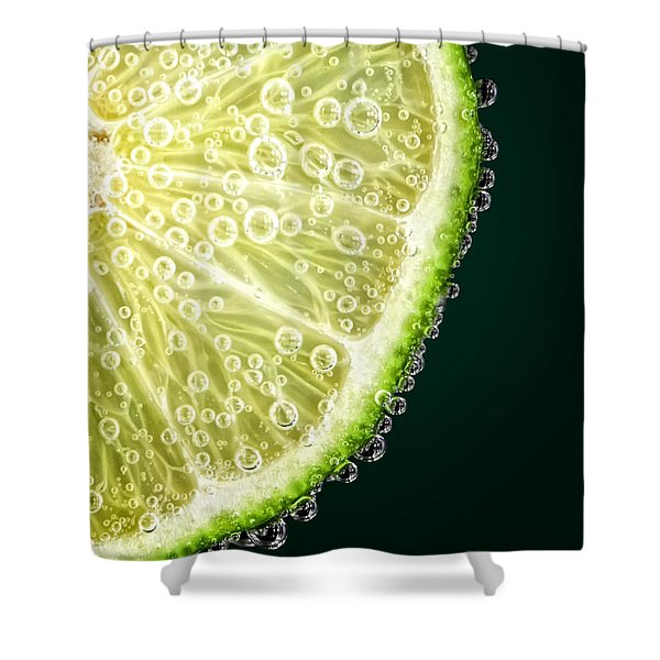 Lime Slice Shower Curtain