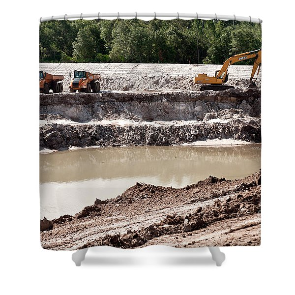 Limestone Pit Shower Curtain