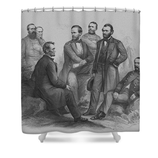 Lincoln And His Generals Shower Curtain