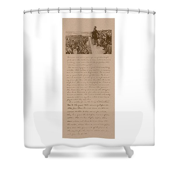 Lincoln And The Gettysburg Address Shower Curtain