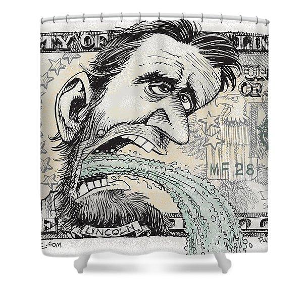 Lincoln Barfs Shower Curtain