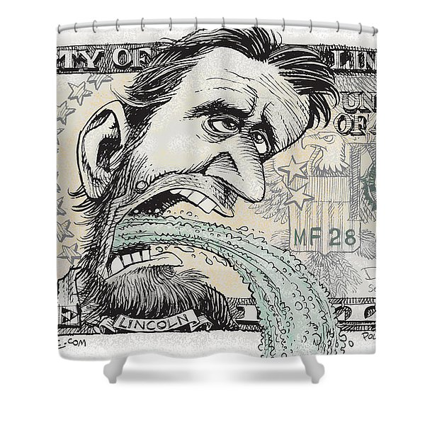 Lincoln Barfs Shower Curtain