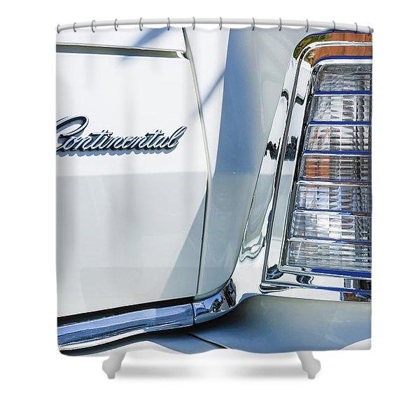 Lincoln Continental Mark Iv Head Light -0149c Shower Curtain