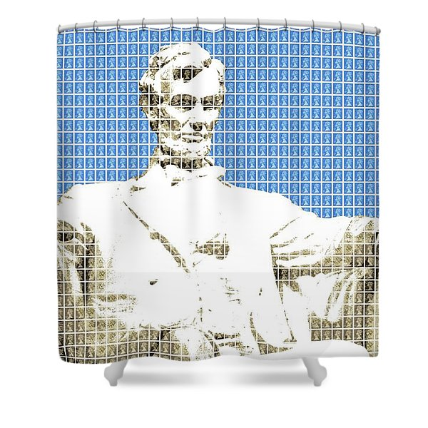 Lincoln Memorial - Blue Shower Curtain