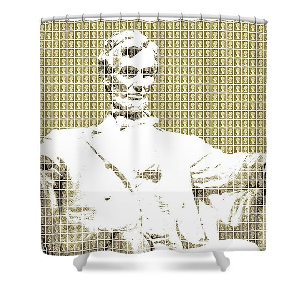 Lincoln Memorial - Gold Shower Curtain
