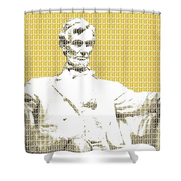 Lincoln Memorial - Yellow Shower Curtain
