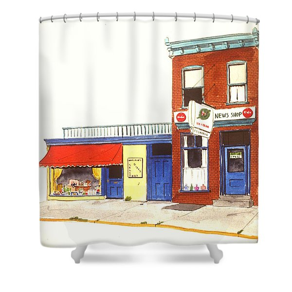 Lincoln News Shower Curtain