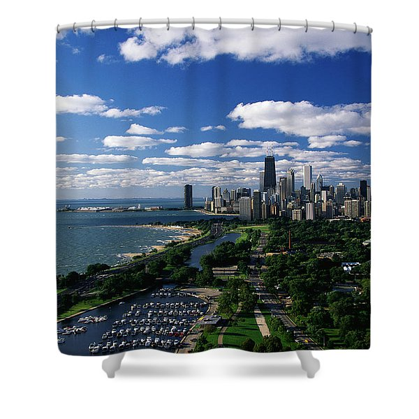 Lincoln Park And Diversey Harbor Shower Curtain