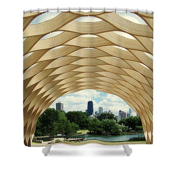 Lincoln Park Zoo Nature Boardwalk Panorama Shower Curtain