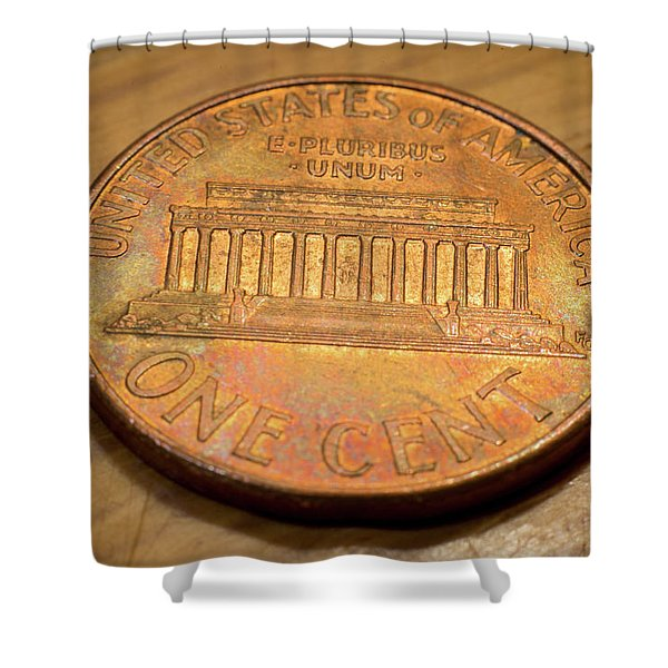 Lincoln Penny Shower Curtain
