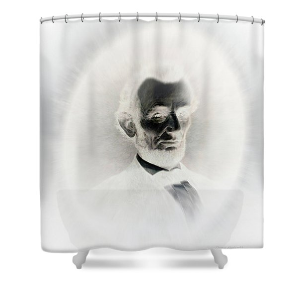 Lincoln Portrait Inverted Image Shower Curtain
