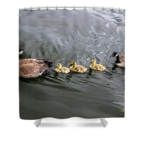 Line Astern Signed Shower Curtain
