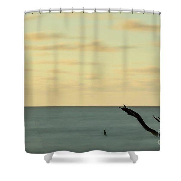 Broken Horizon Shower Curtain
