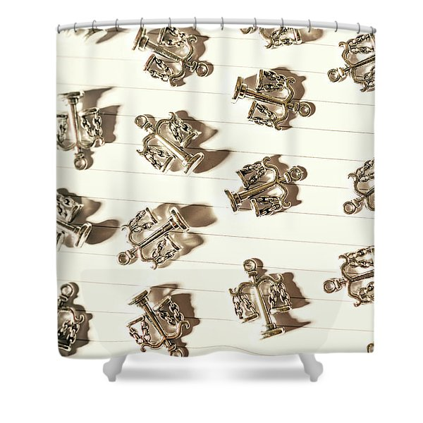 Lines Of Legalities Shower Curtain