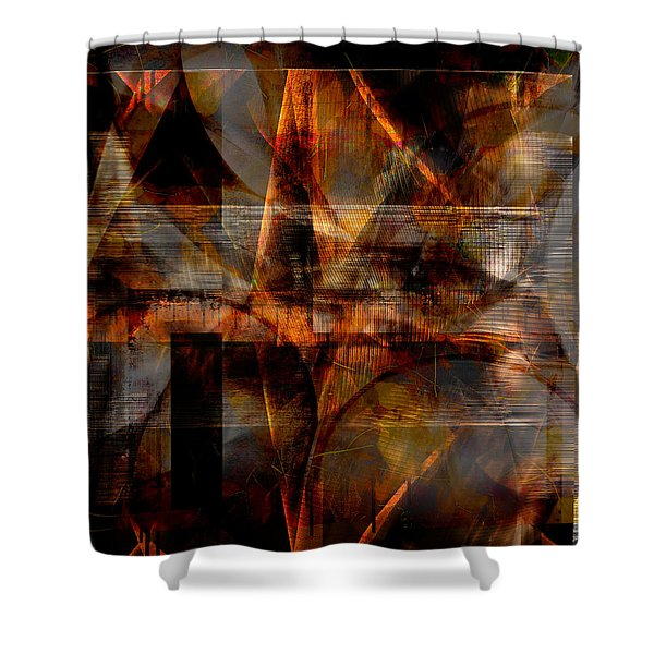 Lines Of Symmetry Shower Curtain