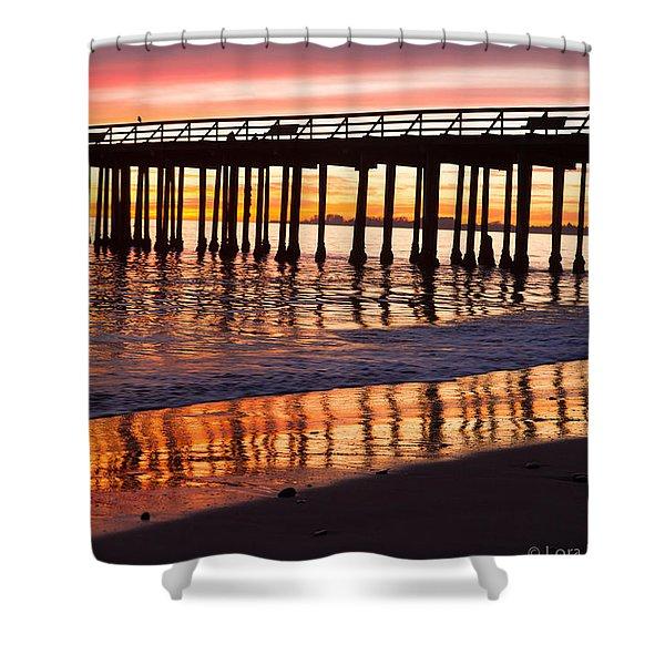 Sunset Seacliff Shadows Shower Curtain