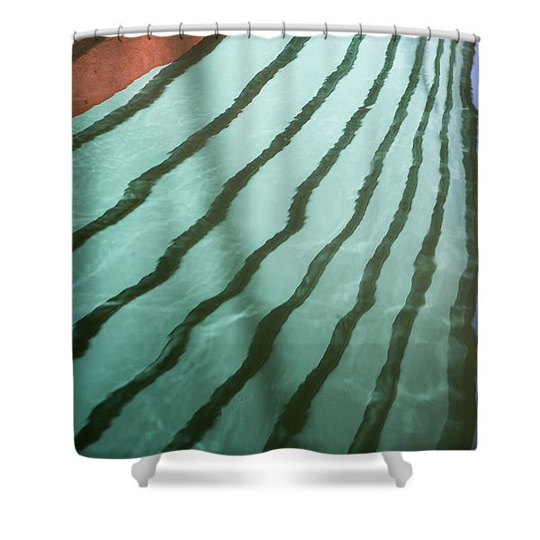 Lines On The Water Shower Curtain