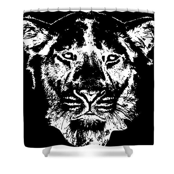 Lion Head Shower Curtain