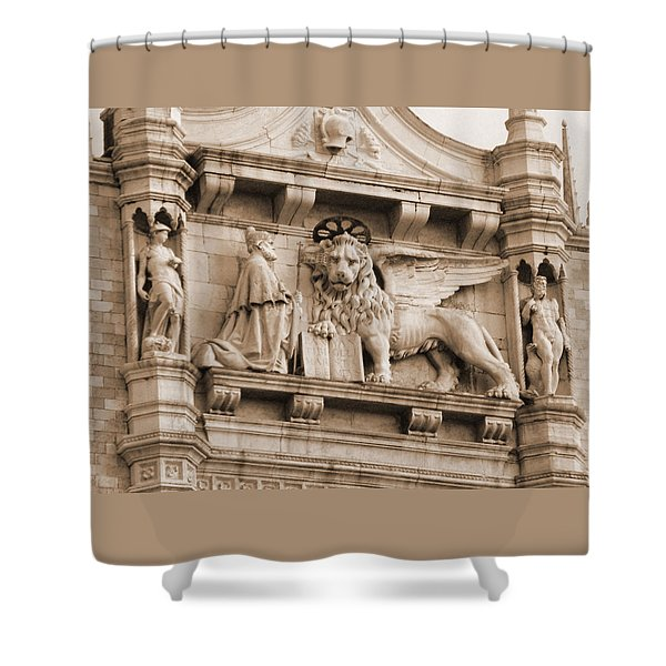 Lion Of Venice With The Doge Shower Curtain