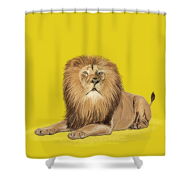 Lion Painting Shower Curtain