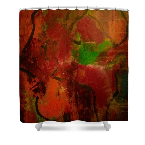 Lion Proile Shower Curtain