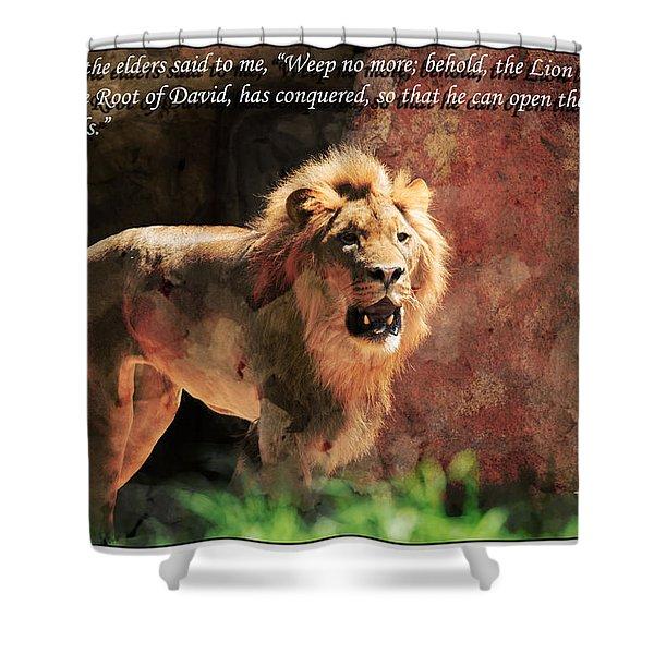 Lion Revelation 5 Shower Curtain