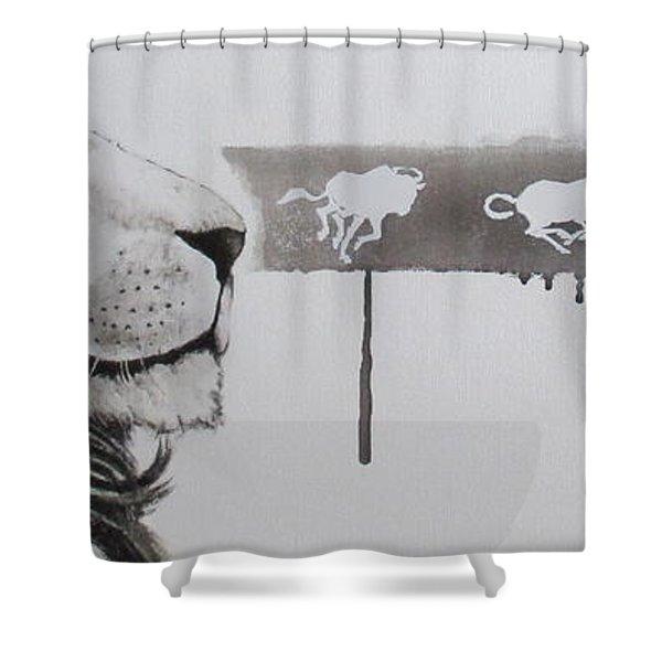 Lion Tears Shower Curtain