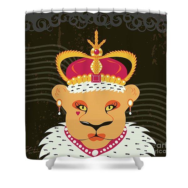 Lioness Queen Shower Curtain