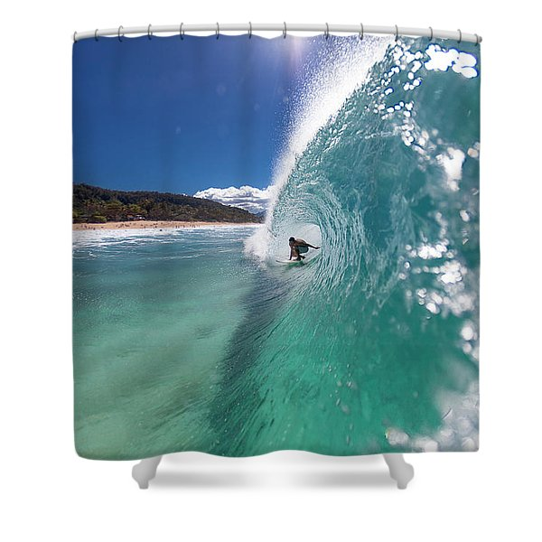 Lip Comes Down Shower Curtain