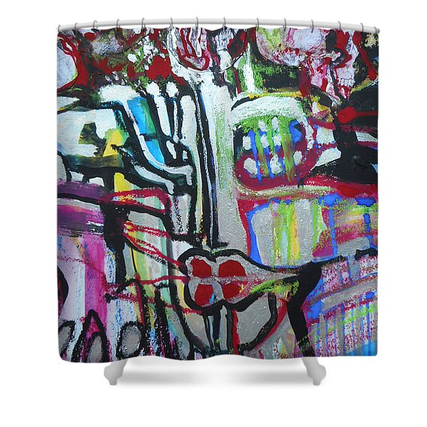 Lips Made Of Steel Shower Curtain