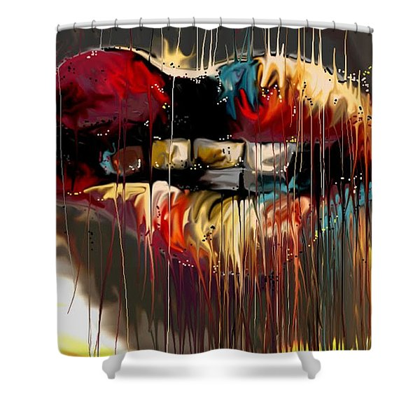 Lips Say It All Shower Curtain