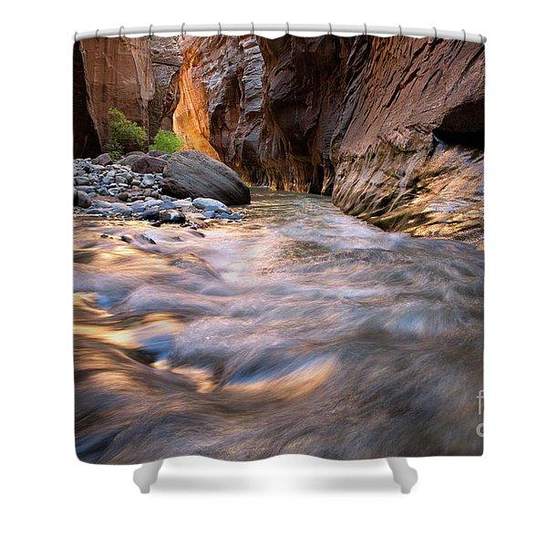 Liquid Gold Utah Adventure Landscape Photography By Kaylyn Franks Shower Curtain