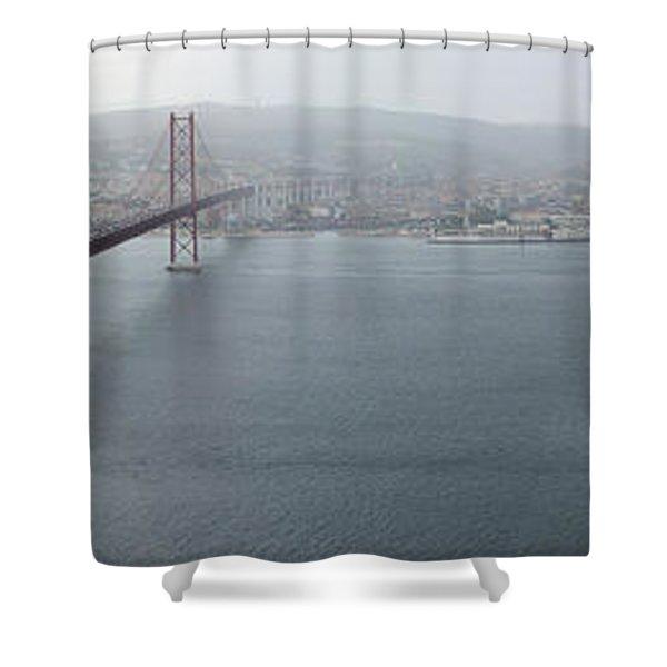 Lisbon On A Foggy Day Shower Curtain