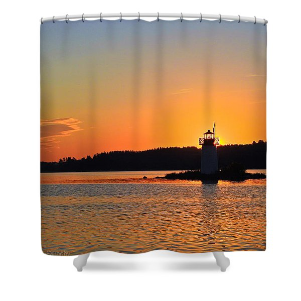 Lit By The Sun Shower Curtain