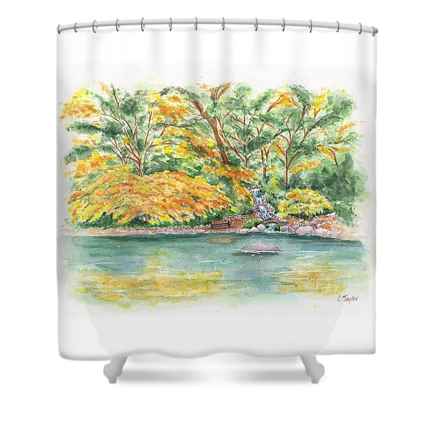 Lithia Park Reflections Shower Curtain