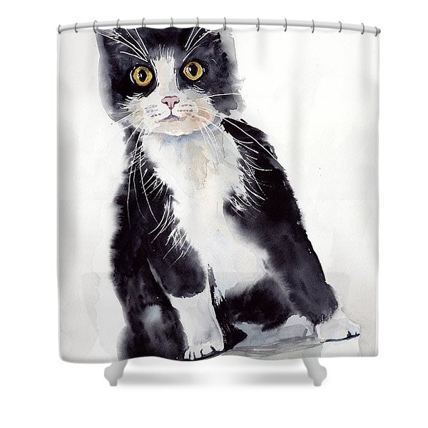 Little Black Scamp Shower Curtain
