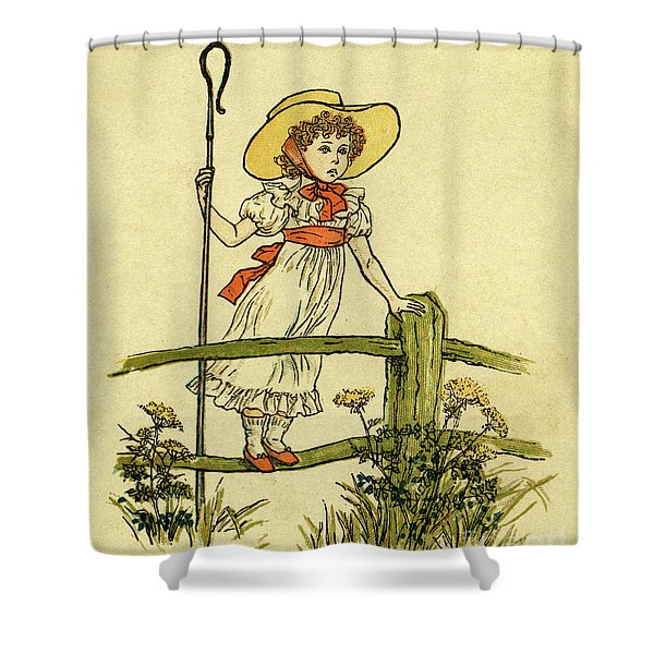 Little Bo Peep Has Lost Her Sheep Shower Curtain