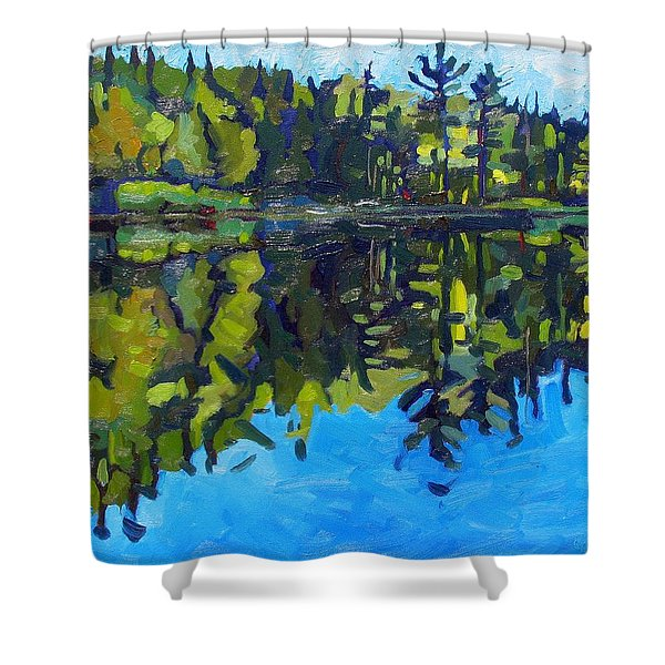 Little Clear Morning Shower Curtain