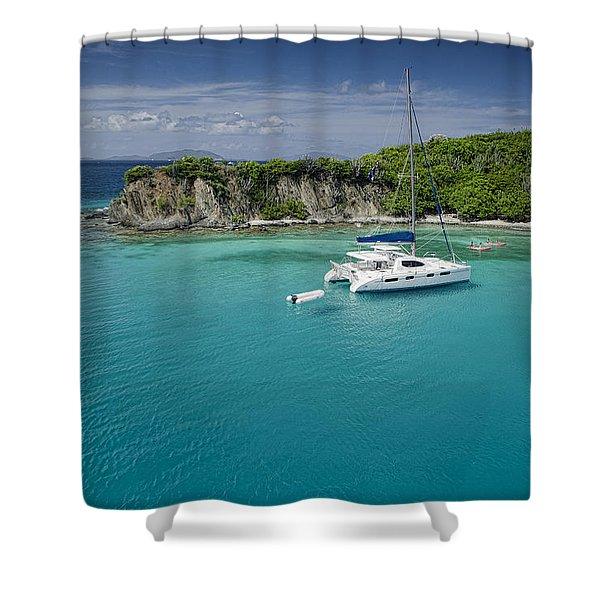 Little Harbor, Peter Island Shower Curtain