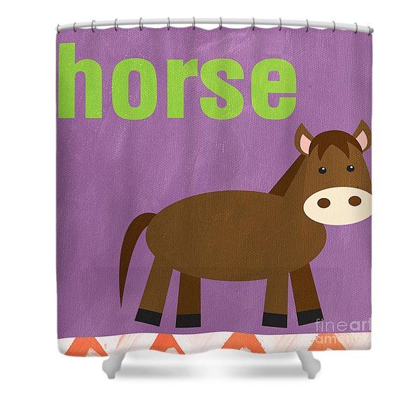 Little Horse Shower Curtain