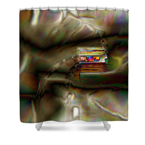 Little House On The Abstract Prairie Shower Curtain
