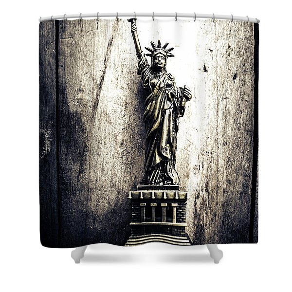 Little Lady Of Vintage Usa Shower Curtain