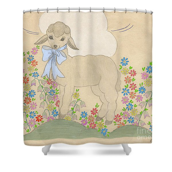 Little Lamb Lightened Shower Curtain