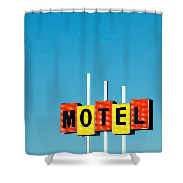 Little Motel Sign Shower Curtain