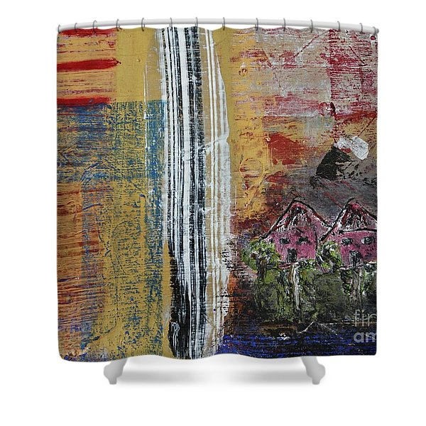 Little Pink Houses Shower Curtain