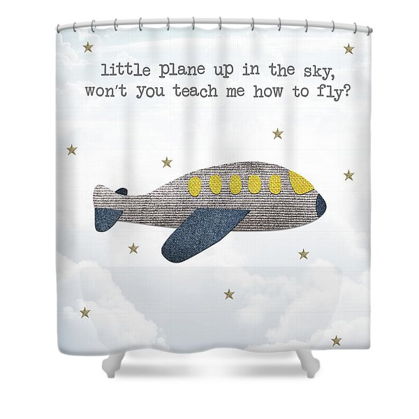 Little Plane Shower Curtain